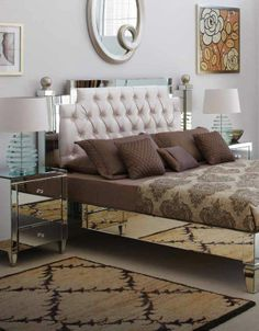 Stunning mirrored bed - handmade to order, contact us now. The world's leading mirrored bed manufacturer. www.themirroredbedcompany.com