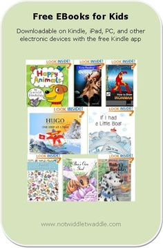 Free eBook list for kids includes picture books, puzzle books, and novels (downloadable on iPad, Kindle, and PC with the Kindle app).