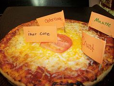 Pizza Earth Science Project! Never seen this one before -- YUM!