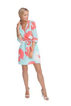 Christie dress in Poppy print (Sea Breeze) - Annie Griffin summer '14