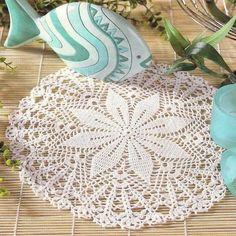 Crochet Art: Crochet Doily Free Pattern - Beautiful and Easy - Diagram
