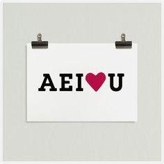i heart you card.