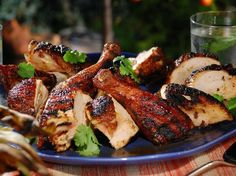 Bobby Flay's Smoked Ginger Chicken with Cardamom, Cloves, and Cinnamon