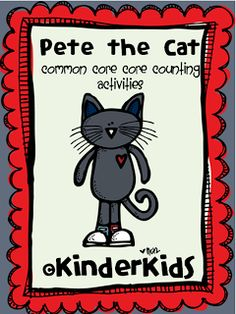 Pete the Cat counting freebies