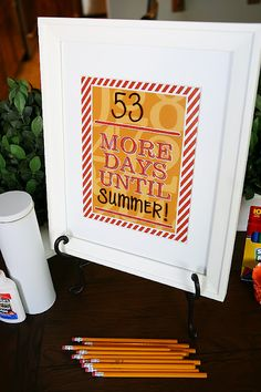 The girls at eighteen25 shared this DIY wipe off countdown frame for teacher appreciation.