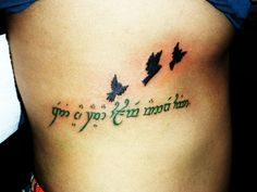 not all who wander are lost. elvish  love the birds with it!