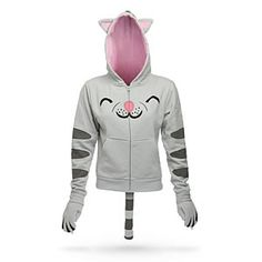 ThinkGeek :: Soft Kitty Ladies' Hoodie