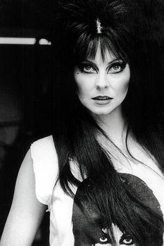 Elvira wearing an Elvira shirt might just be the best thing I've ever seen.