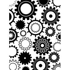 Darice® Embossing Essentials 4.25 x 5.75 inch Embossing Folder - Steampunk Gears