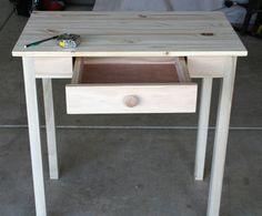 project, furnitur renov, diy small desk, pottery barn inspired, diy potteri, desks, barns