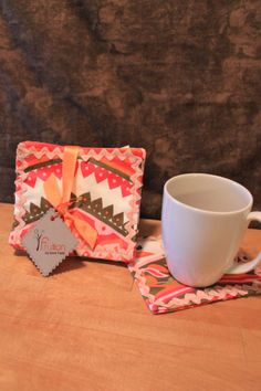 Vintage Bohemian cloth coaster set by Fruitionbyjennifield on Etsy, $10.00