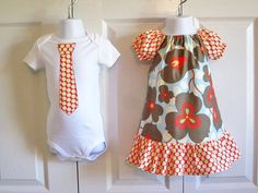 Matching Outfits Brother Sister Siblings  by HandmadebyJennBaker, $45.00