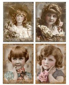 Sheet victoriaanse meisjes 1 | -Victoriaans | Nostalgie  Brocante