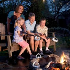 With your own firepit in the backyard you can have a camp out any night!  Kids love it!
