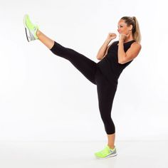 Best kickboxing exercise to work your abs: front kick.