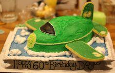 Airplane birthday cake.