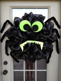 Halloween Spider Deco Poly Mesh Wreath