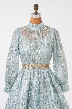 1960s Mod Party Mini Dress  Baby Doll Baby Blue by missfarfalla, $185.00