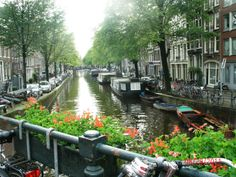 Canals in Amsterdam :-)