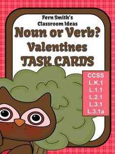 FREE Noun or Verb Valentines Day Task Cards #TPT #FREE