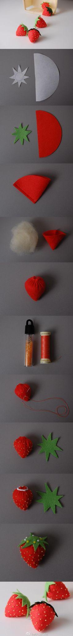 Tutorial para hacer una fresa de fieltro rellena de guata