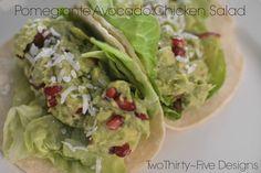 Pomegranate Avocado Chicken Salad