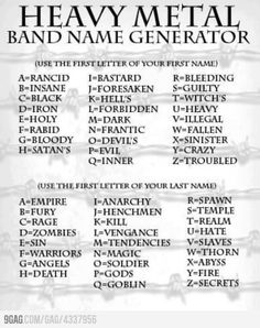What's Your Heavy Metal Band Name?