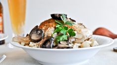 Beer risotto with mushroom garlic chicken. Challenge accepted.