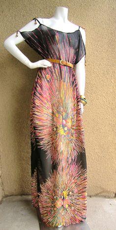 Sunburst  Maxi Dress. $82.00, via Etsy.