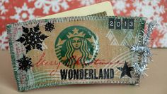 Starbucks cup holder turned gift card holder project + link to full video tutorial on the @Simon Says Stamp blog