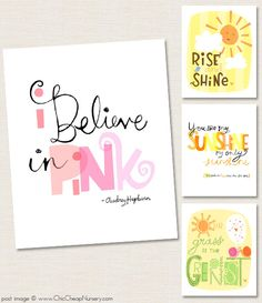 cute prints for the kids' rooms