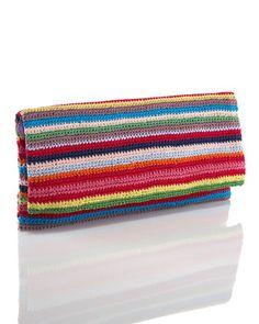 Moyna Crochet Fold-Over Clutch