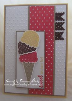 birthday card, cream card, paper crafts