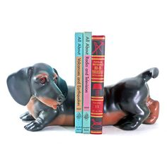 Dachshund Bookends, $43, now featured on Fab.