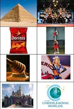 what normal people see vs what all star cheerleaders see