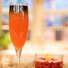 Bloody Scary   (4 oz prosecco   1 ounce freshly squeezed blood orange juice   1/2 oz Campari   1/2 oz Simple Syrup   1 oz Blavod Black vodka, chilled)