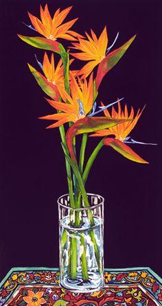 Birds of Paradise Tropical Flower Paintings Kendahl Jan Jubb More