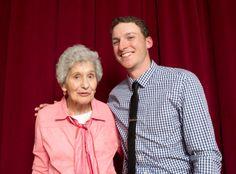 Drew Fox Jordan '16 and his grandmother, Alba Sharkey '49