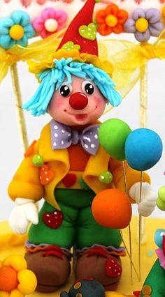 *SUGAR ART? ~ Viorica's Cakes: Cake Christening party clowns