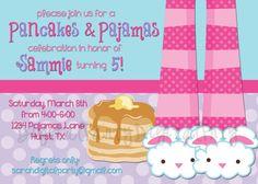 parti invit, pajama party, pajama parti, pancak