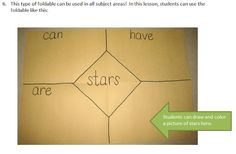 4 square foldable for writing