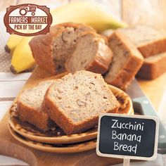 Zucchini Banana Bread Recipe from Taste of Home #fashion #beautiful #pretty Please follow / repin my pinterest. Also visit my blog http://www.easyvegetarianmeals.org/