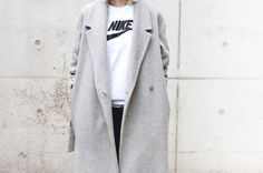 jacket, active lifestyle, fashion nike, sport fashion, cloth, street styles, grey trench, coat trench, coats