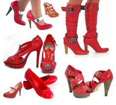 Matching Shoes With Matching Watches For Different Types fashion passion, woman fashion, red boots, damn shoe, red shoes, glorious shoe, thing red, shoe style, red hot