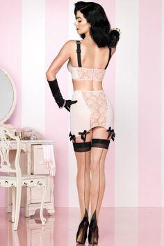 skirt, lace, garter, lingerie, burlesque, blush pink, legs, vintage pins, black