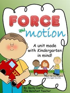 $ Are you prepared for the new Kindergarten science standards on Force and Motion? This bundle includes nine activities that will make teaching this new topic a breeze for you and fun for the kids!