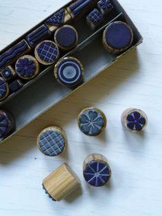 handmade stamps for journal embellishment