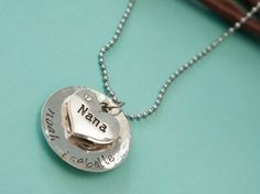Sweet Nana Necklace Personalized Hand Stamped by GenesisOneDesigns, $24.00