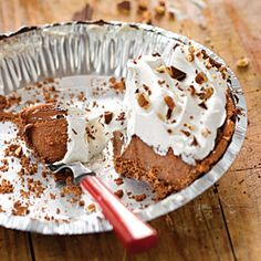 Chocolate Icebox Pie | Like the classic version of lemon icebox pie, our rich chocolate filling is made with sweetened condensed milk. | SouthernLiving.com