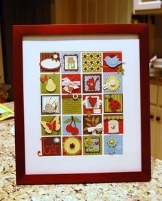 ...I love this!  :) stamp art, collag, a frame, scrapbook art, framed art, box, frame art, scrapbook pages, art pieces